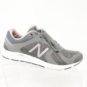 New Balance Womens Pink Grey Athletic Running Shoe